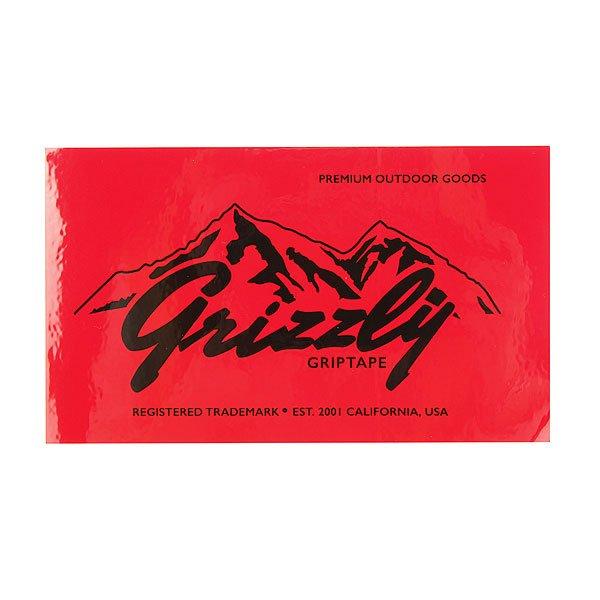 Наклейки 20шт. Grizzly Rockies Sticker Red/Grey/Black/Orange<br><br>Цвет: красный,оранжевый,черный,серый<br>Тип: Наклейки<br>Возраст: Взрослый<br>Пол: Мужской