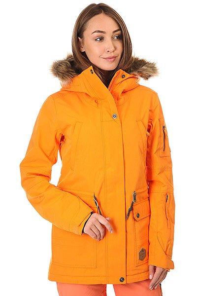 Куртка женская Billabong Nova Orange PepperСъемный мех на капюшоне, утеплитель Thinsulate (80 г тело, 60 г рукава), мембрана 10000 на 10000, проклеенные швы и отличный, удлиненный и свободный крой. В общем, если и есть идеальная женская куртка для сноубординга, то её место сейчас займет модель Nova от Billabong.Характеристики:Удлиненный крой. Мембранная дышащая ткань с показателем 10000 мм / 10000 г/м2. Утеплитель:Polyfill(80 г туловище, 60 г рукава). Подкладка из тафты с утепляющими прочными вставками. Проклеенные швы. Регулируемыйкапюшон со съемным мехом. Внутренний карман. Внутренний сетчатый карман для маски. Утягивающийся подол. Фиксированная снегозащитная юбка. Два кармана для рук с подкладкой на молнии. Вентиляционные сетчатые карманы на молнии в подмышках. Регулируемые манжеты на липучках. Отделка внутренней части воротника микрофлисом. Нагрудный карман. Карман на молнии для ски-пасса на рукаве. Небольшая нашивка с фирменным логотипом.<br><br>Цвет: оранжевый<br>Тип: Куртка утепленная<br>Возраст: Взрослый<br>Пол: Женский