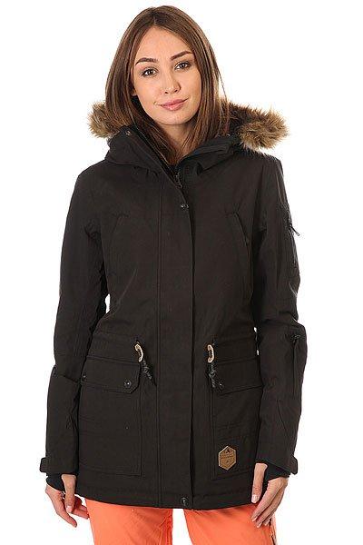 Куртка женская Billabong Nova BlackСъемный мех на капюшоне, утеплитель Thinsulate (80 г тело, 60 г рукава), мембрана 10000 на 10000, проклеенные швы и отличный, удлиненный и свободный крой. В общем, если и есть идеальная женская куртка для сноубординга, то её место сейчас займет модель Nova от Billabong.Характеристики:Удлиненный крой. Мембранная дышащая ткань с показателем 10000 мм / 10000 г/м2. Утеплитель:Polyfill(80 г туловище, 60 г рукава). Подкладка из тафты с утепляющими прочными вставками. Проклеенные швы. Регулируемыйкапюшон со съемным мехом. Внутренний карман. Внутренний сетчатый карман для маски. Утягивающийся подол. Фиксированная снегозащитная юбка. Два кармана для рук с подкладкой на молнии. Вентиляционные сетчатые карманы на молнии в подмышках. Регулируемые манжеты на липучках. Отделка внутренней части воротника микрофлисом. Нагрудный карман. Карман на молнии для ски-пасса на рукаве. Небольшая нашивка с фирменным логотипом.<br><br>Цвет: черный<br>Тип: Куртка утепленная<br>Возраст: Взрослый<br>Пол: Женский