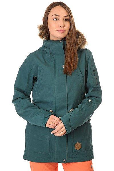 Куртка женская Billabong Nova Deep TealСъемный мех на капюшоне, утеплитель Thinsulate (80 г тело, 60 г рукава), мембрана 10000 на 10000, проклеенные швы и отличный, удлиненный и свободный крой. В общем, если и есть идеальная женская куртка для сноубординга, то её место сейчас займет модель Nova от Billabong.Характеристики:Удлиненный крой. Мембранная дышащая ткань с показателем 10000 мм / 10000 г/м2. Утеплитель:Polyfill(80 г туловище, 60 г рукава). Подкладка из тафты с утепляющими прочными вставками. Проклеенные швы. Регулируемыйкапюшон со съемным мехом. Внутренний карман. Внутренний сетчатый карман для маски. Утягивающийся подол. Фиксированная снегозащитная юбка. Два кармана для рук с подкладкой на молнии. Вентиляционные сетчатые карманы на молнии в подмышках. Регулируемые манжеты на липучках. Отделка внутренней части воротника микрофлисом. Нагрудный карман. Карман на молнии для ски-пасса на рукаве. Небольшая нашивка с фирменным логотипом.<br><br>Цвет: синий<br>Тип: Куртка утепленная<br>Возраст: Взрослый<br>Пол: Женский