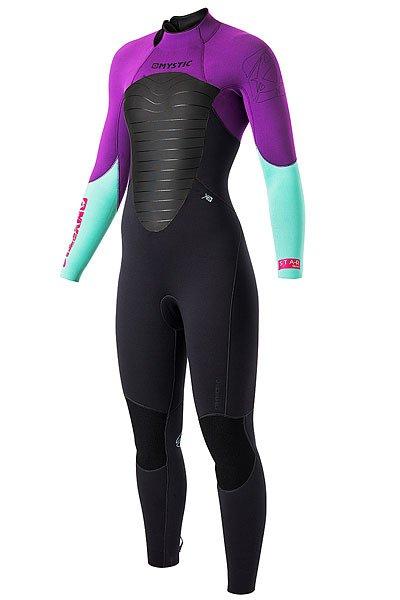 Гидрокостюм (Комбинезон) женский Mystic Star 5/4 Fullsuit Purple<br><br>Цвет: черный,фиолетовый,голубой<br>Тип: Гидрокостюм (Комбинезон)<br>Возраст: Взрослый<br>Пол: Женский