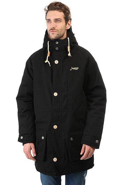 Куртка парка Запорожец Leaf Parka BlackУдлиненная мужская куртка от российского бренда Запорожец из прочной хлопковой ткани с утеплителем.Технические характеристики: Прочная ткань на основе хлопка.Водоотталкивающая обработка.Удлиненный прямой крой.Регулируемый капюшон.Нагрудный карман, карманы для рук и внутренние карманы.Застежка на молнии с ветрозащитным клапаном на пуговицах.<br><br>Цвет: черный<br>Тип: Куртка парка<br>Возраст: Взрослый<br>Пол: Мужской