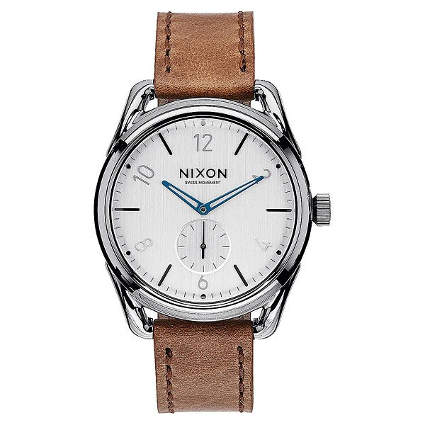 Кварцевые часы Nixon C39 Leather Gunmetal/Chestnut