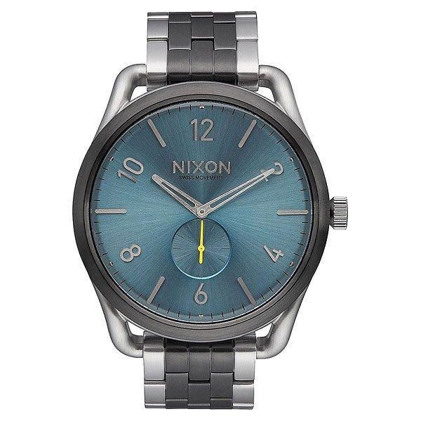 Кварцевые часы Nixon C45 Ss Gunmetal/Aqua SunrayNixon Ranger 45 выполнены в лучших традиция армейских часов. Крупный циферблат, надежный браслет из нержавеющей сталии безоговорочная надежность японского механизма Miyota. Эти часы отлично впишутся в повседневный образ и не подведут ни в дальних путешествиях, ни во время занятий активными видами спорта, и, что немаловажно, будут гармонично смотреться с одеждой для особых случаев.Характеристики:Японский кварцевый механизмMiyota.Функции: часы, минуты, секунды. 3 стрелки. Корпус: цельный корпус с привинчиваемой крышкой и заводной головкой. Материал: нержавеющая сталь.Безель: нержавеющая сталь. Закалённое минеральное стекло. Водонепроницаемость: 100 метров / 10 ATM. Браслет из нержавеющей стали. 3-секционный браслет. Замок с двойной застежкой и микрорегулировкой.<br><br>Тип: Кварцевые часы<br>Возраст: Взрослый<br>Пол: Мужской