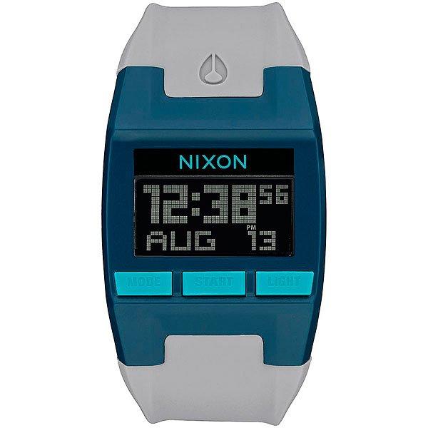 Электронные часы Nixon Comp Teal/Gray<br><br>Тип: Электронные часы<br>Возраст: Взрослый<br>Пол: Мужской