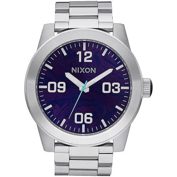 Кварцевые часы Nixon Corporal Ss Purple часы nixon corporal ss matte black industrial green