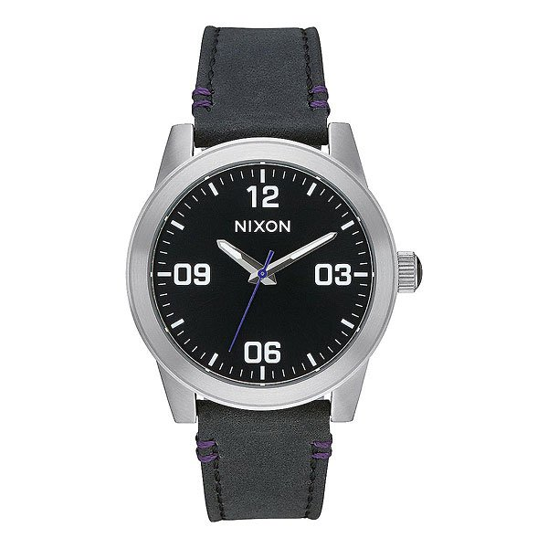 Кварцевые часы Nixon G.i. Leather Black часы nixon re run leather all black