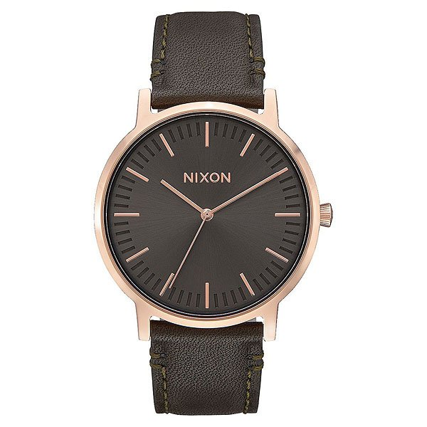 Кварцевые часы Nixon Porter Leather Rose Gold/Gunmetal/Surplus часы nixon corporal ss all black