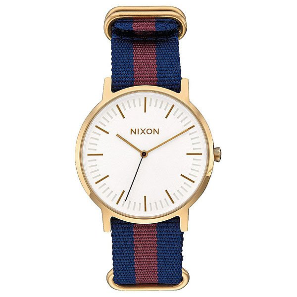 Кварцевые часы Nixon Porter Nylon Gold/White/Red