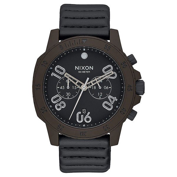 Кварцевые часы Nixon Ranger Chrono Leather Bronze/Black футболка wearcraft premium printio los angeles kings nhl usa
