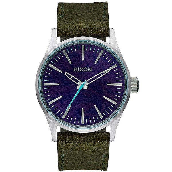 Кварцевые часы Nixon Sentry 38 Leather Purple/Olive кварцевые часы nixon sentry chrono black multi