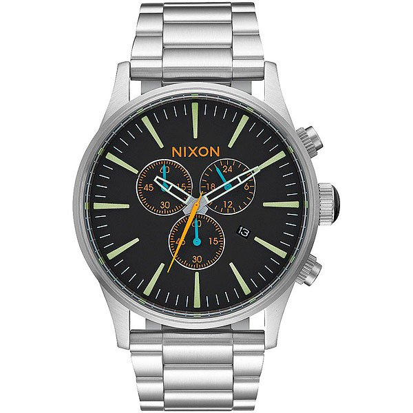 Кварцевые часы Nixon Sentry Chrono Black/Multi кварцевые часы nixon sentry chrono black rose gold