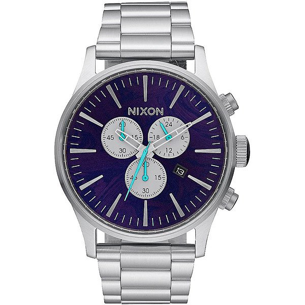 Кварцевые часы Nixon Sentry Chrono Purple кварцевые часы nixon sentry chrono black multi