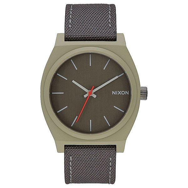 Кварцевые часы Nixon Time Teller Sage/Gunmetal<br><br>Тип: Кварцевые часы<br>Возраст: Взрослый<br>Пол: Мужской