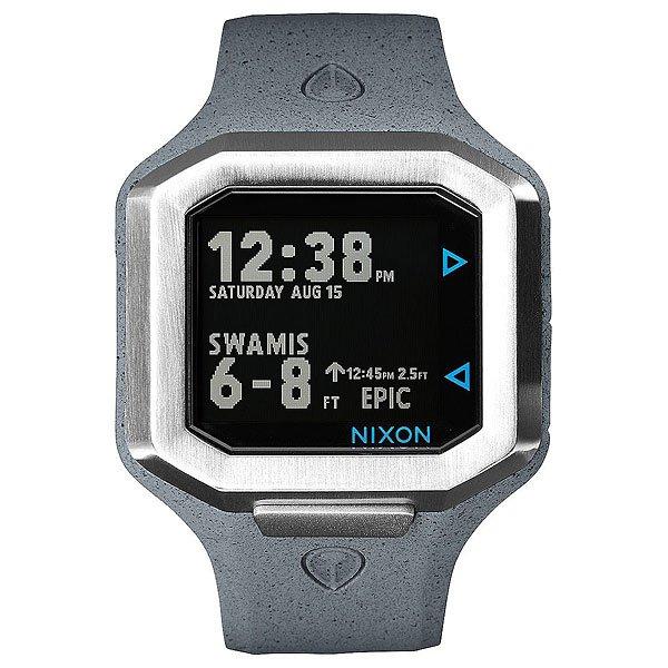 Электронные часы Nixon Ultratide ConcreteЭволюция времени и технологий, часы Ultratide являются результатом обширных исследований и эксклюзивного партнерства с Surfline.Технические характеристики: Цифровой модуль с данными, предоставленными Surfline. Он имеет дисплей высокого разрешения, данные на котором постоянно обновляются с учетом текущего прогноза Surfline (данные о ваших любимых местах для серфинга по всему миру).Возможность выбрать любимое место для серфинга в сети Surfline, сделать прогноз в удобном формате на 10 точек.Surfline предоставляет данные о текущей высоте, направлении волны, температуре воды, воздуха, погоды и данные о приливах и отливах в течении 48 часов с прогнозируемым временем и высотой.Ultratide автоматически находит ближайший спот к вашему текущему местоположению.Легкая настройка в одно касание, чтобы синхронизировать часы с телефоном.Серф-оповещения для ваших любимых мест.Поделитесь своими серфинг-сессиями с помощью Ultratide  (только для iOS).Стальной сердечник с изготовленным на заказ корпусом из полиуретана и силикона.Безель из нержавеющей стали.Закаленное минеральное стекло.Литой силиконовый ремешок с запатентованной блокировкой и пряжкой из нержавеющей стали.<br><br>Тип: Электронные часы<br>Возраст: Взрослый<br>Пол: Мужской