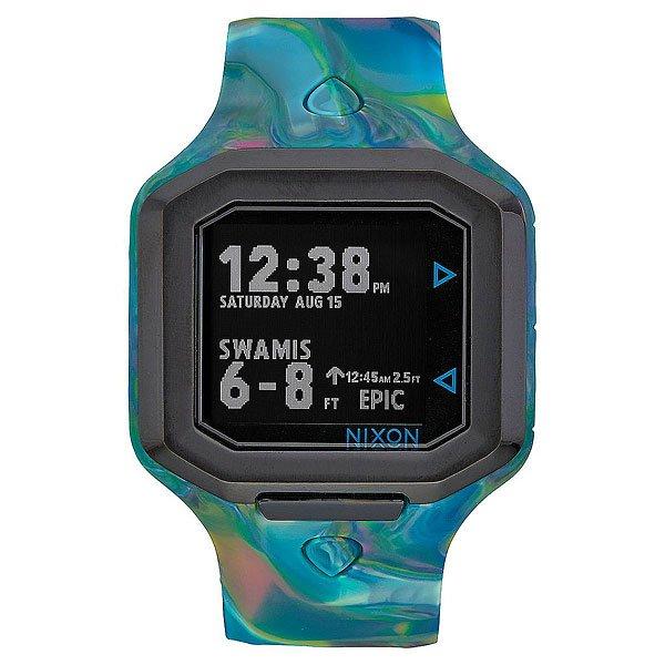 Электронные часы Nixon Ultratide Marbled MultiЭволюция времени и технологий, часы Ultratide являются результатом обширных исследований и эксклюзивного партнерства с Surfline.Технические характеристики: Цифровой модуль с данными, предоставленными Surfline. Он имеет дисплей высокого разрешения, данные на котором постоянно обновляются с учетом текущего прогноза Surfline (данные о ваших любимых местах для серфинга по всему миру).Возможность выбрать любимое место для серфинга в сети Surfline, сделать прогноз в удобном формате на 10 точек.Surfline предоставляет данные о текущей высоте, направлении волны, температуре воды, воздуха, погоды и данные о приливах и отливах в течении 48 часов с прогнозируемым временем и высотой.Ultratide автоматически находит ближайший спот к вашему текущему местоположению.Легкая настройка в одно касание, чтобы синхронизировать часы с телефоном.Серф-оповещения для ваших любимых мест.Поделитесь своими серфинг-сессиями с помощью Ultratide  (только для iOS).Стальной сердечник с изготовленным на заказ корпусом из полиуретана и силикона.Безель из нержавеющей стали.Закаленное минеральное стекло.Литой силиконовый ремешок с запатентованной блокировкой и пряжкой из нержавеющей стали.<br><br>Тип: Электронные часы<br>Возраст: Взрослый<br>Пол: Мужской