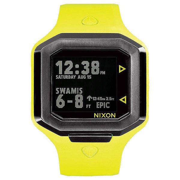 Электронные часы Nixon Ultratide Neon Yellow/Gunmetal