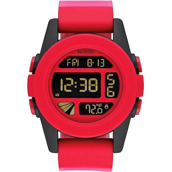 Электронные часы Nixon Unit Red Fade<br><br>Тип: Электронные часы<br>Возраст: Взрослый<br>Пол: Мужской
