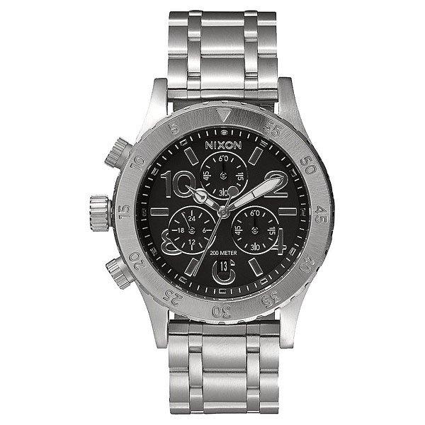 Кварцевые часы женские Nixon 38-20 Chrono Black часы nixon corporal ss matte black industrial green