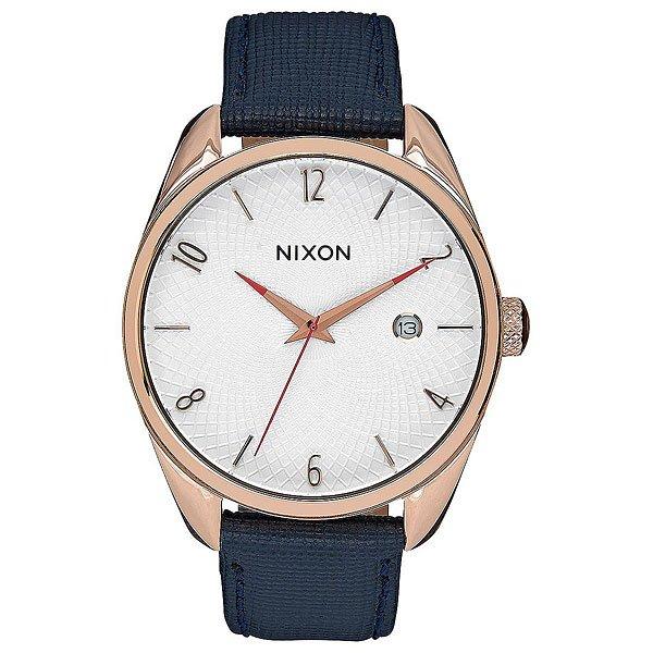 Кварцевые часы женские Nixon Bullet Leather Rose Gold/NavyNixon Bullet - часы премиум-класса, готовые подчеркнуть Ваш стиль и стать незаменимым функциональным аксессуаром.Технические характеристики: Японский кварцевый механизм Miyota с функцией даты.Накладные часовые индексы из нержавеющей стали.Гильошированный дисплей.Толщина корпуса составляет чуть более 8 мм.Прочный корпус из нержавеющей стали.Закаленное минеральное стекло.Заводная головка с покрытием из эмали.Задняя крышка из нержавеющей стали.Кожаный ремешок с гравированной пряжкой.<br><br>Тип: Кварцевые часы<br>Возраст: Взрослый<br>Пол: Женский