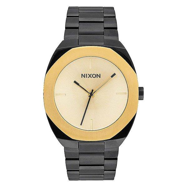 Кварцевые часы женские Nixon Catalyst Black/GoldСкульптурный дизайн, в котором все элементы конструкции гармонируют между собой - смелый геометрический безель и сложная палитра в часах Catalyst.Технические характеристики: Японский кварцевый механизм Miyota.Чистый, минимальный циферблат с маркерами на 12, 3, 6, 9 часов.Прочный корпус из нержавеющей стали.Восьмиугольной формы неповоротный безель.Закаленное минеральное стекло.Задняя крышка из нержавеющей стали.Стальной браслет с нестандартной пряжкой.<br><br>Тип: Кварцевые часы<br>Возраст: Взрослый<br>Пол: Женский