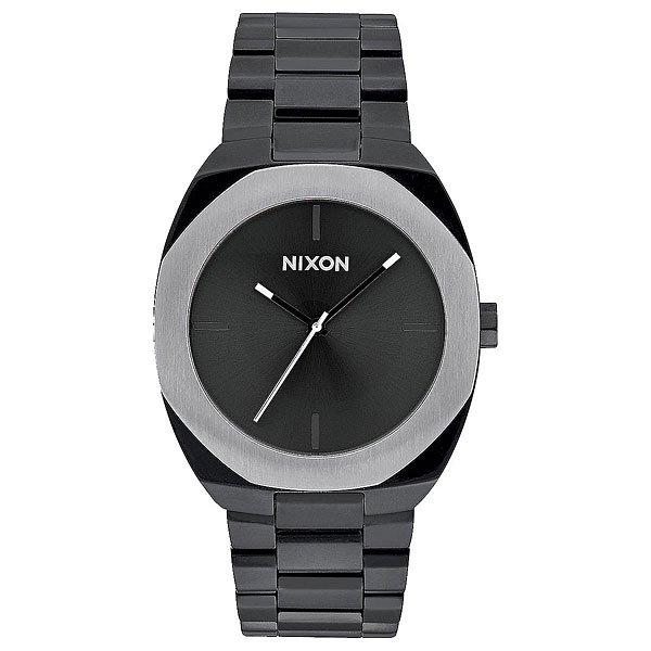Кварцевые часы женские Nixon Catalyst Black/SilverСкульптурный дизайн, в котором все элементы конструкции гармонируют между собой - смелый геометрический безель и сложная палитра в часах Catalyst.Технические характеристики: Японский кварцевый механизм Miyota.Чистый, минимальный циферблат с маркерами на 12, 3, 6, 9 часов.Прочный корпус из нержавеющей стали.Восьмиугольной формы неповоротный безель.Закаленное минеральное стекло.Задняя крышка из нержавеющей стали.Стальной браслет с нестандартной пряжкой.<br><br>Тип: Кварцевые часы<br>Возраст: Взрослый<br>Пол: Женский