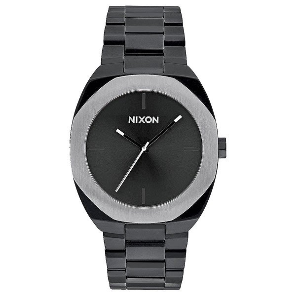 Кварцевые часы женские Nixon Catalyst Black/Silver часы nixon corporal ss all black
