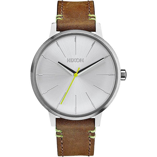 Кварцевые часы женские Nixon Kensington Leather Brown/Lime часы женские nixon kensington all white gold o s