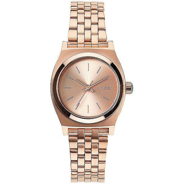 где купить Кварцевые часы женские Nixon Small Time Teller All Rose Gold по лучшей цене