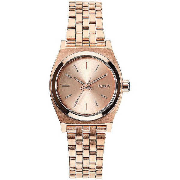 Кварцевые часы женские Nixon Small Time Teller All Rose Gold