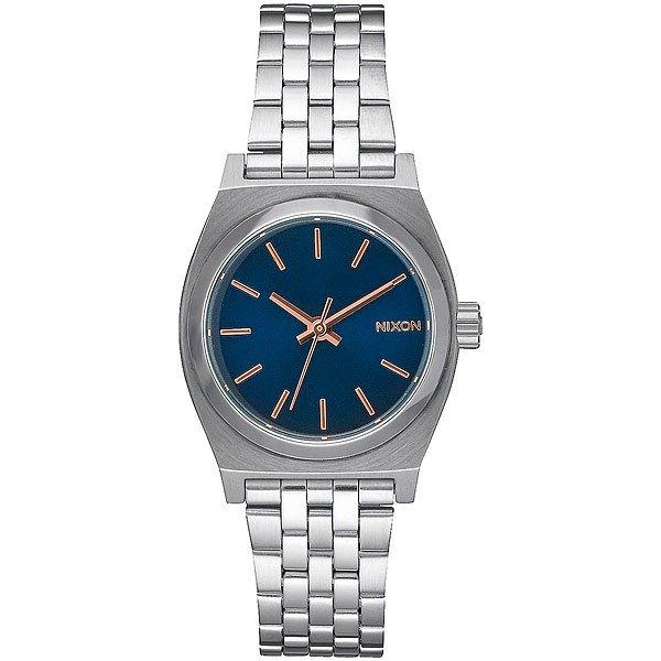 Кварцевые часы женские Nixon Small Time Teller Navy/Rose Gold