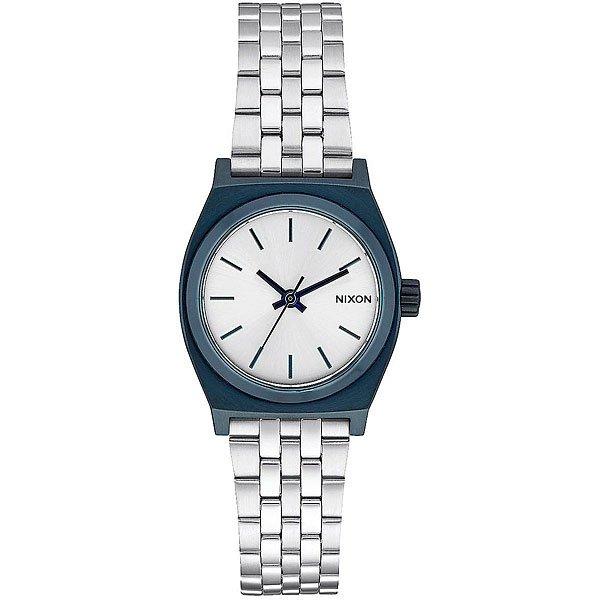 Кварцевые часы женские Nixon Small Time Teller Navy/Silver