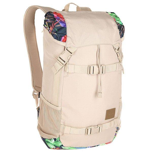 Рюкзак туристический Nixon Landlock Backpack Se Khaki/MultiВместительный рюкзак с креплениями для доски. Теперь Вы можете смело отправляться на самый дальний спот, захватив с собой все необходимое и даже больше. Nixon Landlock отлично подойдет для путешествий: благодаря полезному объему в 33 литра Вам, возможно, даже не придется брать с собой чемодан. А слегка аутентичный вид отлично впишется в Ваш городской лук, добавив стиля. Характеристики:Внешние крепления для доски. Ручка для переноски. Кожаный логотип. Основной отсек закрывается на верхний клапан и дополнительно утягивается шнурком. Внутренние карманы на молнии в основном отсеке. Эргономичная мягкая спинка. Мягкие лямки. Боковые карманы.Материал: прочный полиэстер 600D. Материал подкладки: полиэстер 210D.<br><br>Цвет: бежевый,мультиколор<br>Тип: Рюкзак туристический<br>Возраст: Взрослый<br>Пол: Мужской