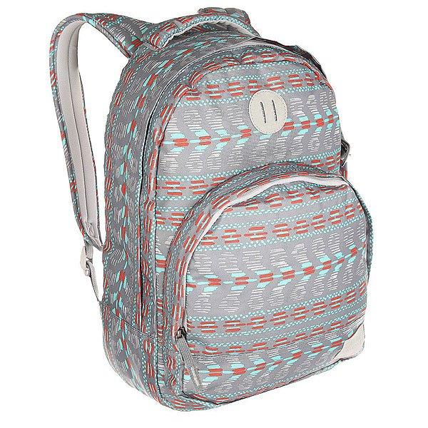 Рюкзак городской Nixon Grandview Backpack Gray MultiЭтот рюкзак внешне выглядит компактным, однако на самом деле он очень вместителен. Возьмите его в город, на природу или в поездку – в любой ситуации он послужит надёжным помощником. Внутри предусмотрен специальный карман для ноутбука, а во внешний карман вшит органайзер для ручек и карандашей.Характеристики:Вместительное основное отделение на молнии. Карман-органайзер на молнии. Ручка для переноски. Мягкие регулируемые лямки с сетчатыми вставками. Материал: 100% нейлон200D<br><br>Цвет: серый<br>Тип: Рюкзак городской<br>Возраст: Взрослый<br>Пол: Мужской