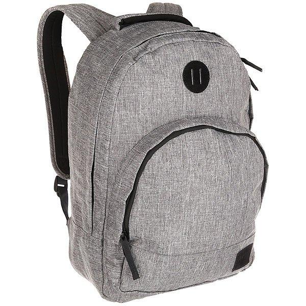 Рюкзак городской Nixon Grandview Backpack True Black WashЭтот рюкзак внешне выглядит компактным, однако на самом деле он очень вместителен. Возьмите его в город, на природу или в поездку – в любой ситуации он послужит надёжным помощником. Внутри предусмотрен специальный карман для ноутбука, а во внешний карман вшит органайзер для ручек и карандашей.Характеристики:Вместительное основное отделение на молнии. Карман-органайзер на молнии. Ручка для переноски. Мягкие регулируемые лямки с сетчатыми вставками. Материал: 100% нейлон200D<br><br>Цвет: серый<br>Тип: Рюкзак городской<br>Возраст: Взрослый<br>Пол: Мужской