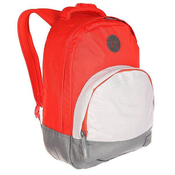 Рюкзак городской Nixon Grandview Backpack LobsterЭтот рюкзак внешне выглядит компактным, однако на самом деле он очень вместителен. Возьмите его в город, на природу или в поездку – в любой ситуации он послужит надёжным помощником. Внутри предусмотрен специальный карман для ноутбука, а во внешний карман вшит органайзер для ручек и карандашей.Характеристики:Вместительное основное отделение на молнии. Карман-органайзер на молнии. Ручка для переноски. Мягкие регулируемые лямки с сетчатыми вставками. Материал: 100% нейлон200D<br><br>Цвет: красный,серый<br>Тип: Рюкзак городской<br>Возраст: Взрослый