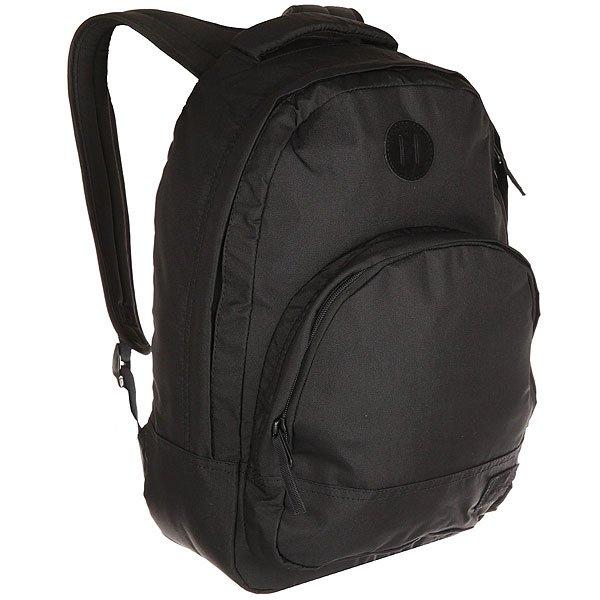 Рюкзак городской Nixon Grandview Backpack All BlackЭтот рюкзак внешне выглядит компактным, однако на самом деле он очень вместителен. Возьмите его в город, на природу или в поездку – в любой ситуации он послужит надёжным помощником. Внутри предусмотрен специальный карман для ноутбука, а во внешний карман вшит органайзер для ручек и карандашей.Характеристики:Вместительное основное отделение на молнии. Карман-органайзер на молнии. Ручка для переноски. Мягкие регулируемые лямки с сетчатыми вставками. Материал: 100% нейлон200D<br><br>Цвет: черный<br>Тип: Рюкзак городской<br>Возраст: Взрослый