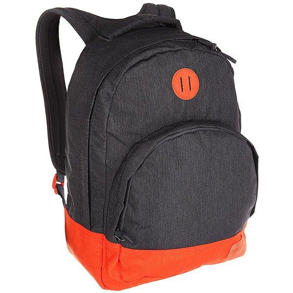 Рюкзак городской Nixon Grandview Backpack Dark Gray/OrangeЭтот рюкзак внешне выглядит компактным, однако на самом деле он очень вместителен. Возьмите его в город, на природу или в поездку – в любой ситуации он послужит надёжным помощником. Внутри предусмотрен специальный карман для ноутбука, а во внешний карман вшит органайзер для ручек и карандашей.Характеристики:Вместительное основное отделение на молнии. Карман-органайзер на молнии. Ручка для переноски. Мягкие регулируемые лямки с сетчатыми вставками. Материал: 100% нейлон200D<br><br>Цвет: серый,оранжевый<br>Тип: Рюкзак городской<br>Возраст: Взрослый