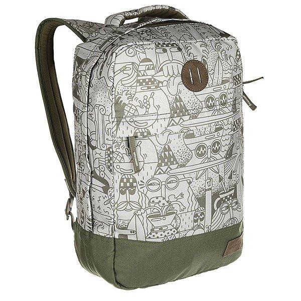 Рюкзак городской Nixon Beacons Backpack OliveРюкзак Beacons представлен как в нескольких действительно оригинальных расцветках, так и в классическом однотонном варианте. Благодаря вместительности и прочным качественным материалам, из которых изготовлен рюкзак, это отличный, надёжный вариант на каждый день. Характеристики:Основное отделение на молнии. Внутренние карманы. Внешний карман на молнии. Мягкие регулируемые лямки с сетчатыми вставками. Ручка для переноски.<br><br>Цвет: зеленый<br>Тип: Рюкзак городской<br>Возраст: Взрослый