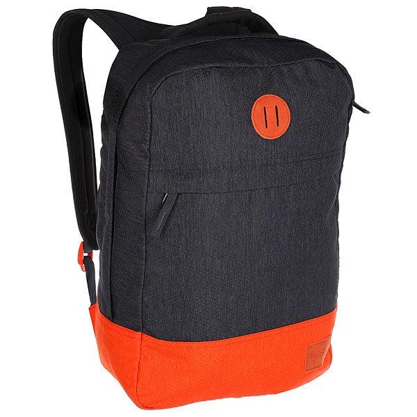 Рюкзак городской Nixon Beacons Backpack Dark Gray/OrangeРюкзак Beacons представлен как в нескольких действительно оригинальных расцветках, так и в классическом однотонном варианте. Благодаря вместительности и прочным качественным материалам, из которых изготовлен рюкзак, это отличный, надёжный вариант на каждый день.Характеристики:Основное отделение на молнии.Внутренние карманы. Внешний карман на молнии. Мягкие регулируемые лямки с сетчатыми вставками. Ручка для переноски.<br><br>Цвет: серый,оранжевый<br>Тип: Рюкзак городской<br>Возраст: Взрослый