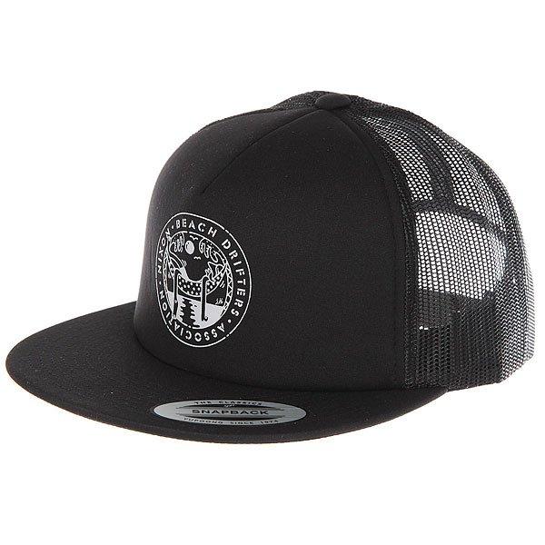 Бейсболка с сеткой Nixon Pop Trucker Hat All Black<br><br>Цвет: черный<br>Тип: Бейсболка с сеткой<br>Возраст: Взрослый<br>Пол: Мужской