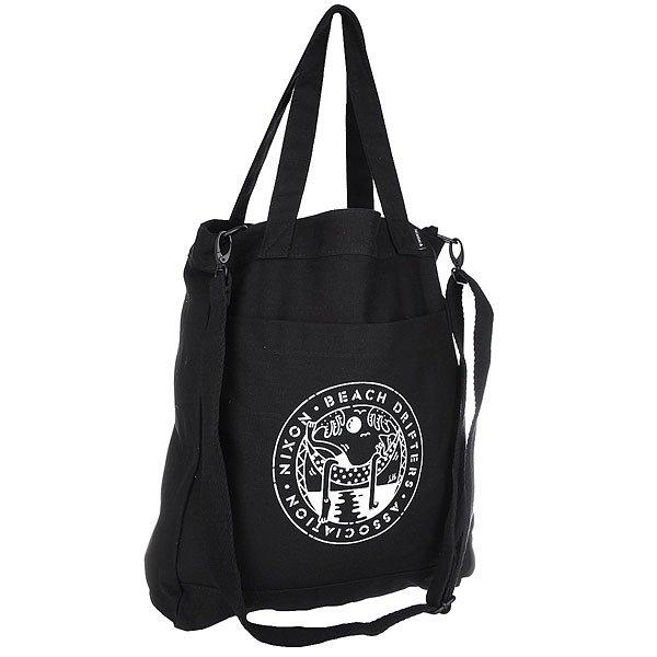 Сумка женская Nixon City Tote Beach Drifter BlackКачественная и функциональная сумка с которой легко путешествовать по миру. Будьте готовы подняться на новый уровень!Технические характеристики: Хлопок с принтом.Съемный плечевой ремень и двойные ручки.Магнитная застежка.Передний карман для аксессуаров.Внутренний карман.<br><br>Цвет: черный<br>Тип: Сумка<br>Возраст: Взрослый<br>Пол: Женский