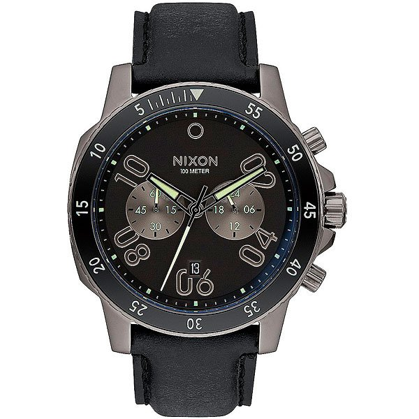 Кварцевые часы Nixon Ranger Chrono Leather Gunmetal/Lum часы nixon corporal ss all black