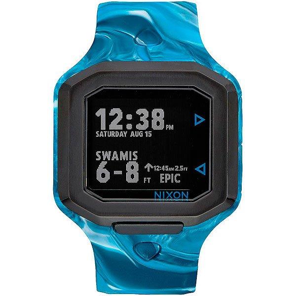 Электронные часы Nixon Ultratide AN Waves 4 WaterЭволюция времени и технологий, часы Ultratide являются результатом обширных исследований и эксклюзивного партнерства с Surfline.Технические характеристики: Цифровой модуль с данными, предоставленными Surfline. Он имеет дисплей высокого разрешения, данные на котором постоянно обновляются с учетом текущего прогноза Surfline (данные о ваших любимых местах для серфинга по всему миру).Возможность выбрать любимое место для серфинга в сети Surfline, сделать прогноз в удобном формате на 10 точек.Surfline предоставляет данные о текущей высоте, направлении волны, температуре воды, воздуха, погоды и данные о приливах и отливах в течении 48 часов с прогнозируемым временем и высотой.Ultratide автоматически находит ближайший спот к вашему текущему местоположению.Легкая настройка в одно касание, чтобы синхронизировать часы с телефоном.Серф-оповещения для ваших любимых мест.Поделитесь своими серфинг-сессиями с помощью Ultratide  (только для iOS).Стальной сердечник с изготовленным на заказ корпусом из полиуретана и силикона.Безель из нержавеющей стали.Закаленное минеральное стекло.Литой силиконовый ремешок с запатентованной блокировкой и пряжкой из нержавеющей стали.<br><br>Цвет: голубой,серый<br>Тип: Электронные часы<br>Возраст: Взрослый<br>Пол: Мужской