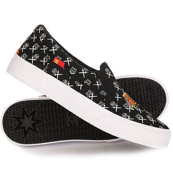 Слипоны детские DC Trase Slip On X At Black/White/Red arya arya кпб baby face 1 5 сп