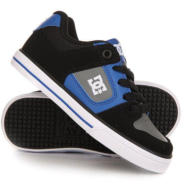Кеды кроссовки низкие детские DC Pure Black/Grey