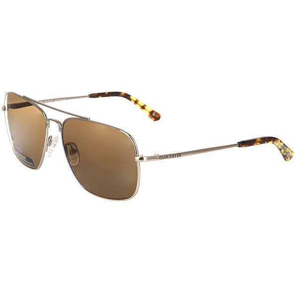 Очки Quiksilver Belmont Shiny Real Silver/Brown очки корригирующие grand очки готовые 3 5 g1367 c4
