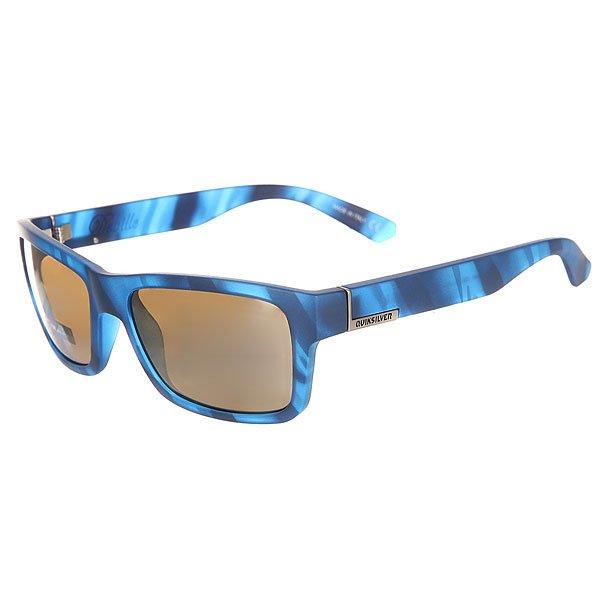 Очки Quiksilver Deville Matte Real Blue Havana/Fl<br><br>Цвет: синий<br>Тип: Очки<br>Возраст: Взрослый<br>Пол: Мужской