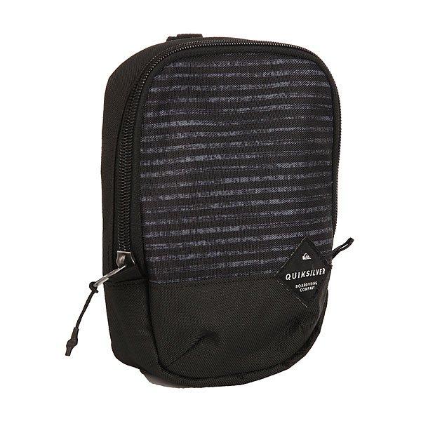 Сумка для документов Quiksilver Black Dies BlackНебольшая заплечная сумка Black Dies.Технические характеристики: Одно основное отделение на молнии.Регулируемая лямка.Объем – 1,5 л.<br><br>Цвет: черный,серый<br>Тип: Сумка для документов<br>Возраст: Взрослый<br>Пол: Мужской