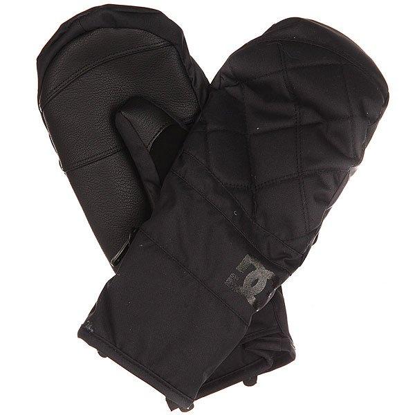 Варежки женские DC Seger Mitt BlackТеплые сноубордические варежки Seger.Технические характеристики: Полиэстер, полиуретан и замша.Утеплитель 150 г.Водостойкая мембранная вставка 10K.Регулируемые манжеты на липучке Velcro.Замшевая вставка для протирки маски на большом пальце.Цельная подкладка, включая пальцы.Регулируемый лиш.<br><br>Цвет: черный<br>Тип: Варежки<br>Возраст: Взрослый<br>Пол: Женский